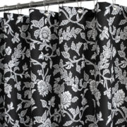 Park B. Smith Floral Swirl Fabric Shower Curtain