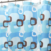 Park B. Smith Geo Squares Fabric Shower Curtain