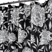 Peony Fabric Shower Curtain