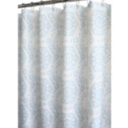 Venetian Tiles Fabric Shower Curtain