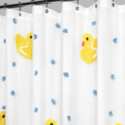 Park B. Smith Ducky Ducky Fabric Shower Curtain