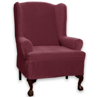 Maytex Smart Cover® Collin Stretch 1-pc. Wing Chair Slipcover