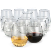 Libbey® Set of 12 Stemless Wine Glasses