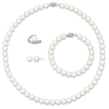 jcpenney.com | Cultured Freshwater Pearl 4-pc. Boxed Jewelry Set
