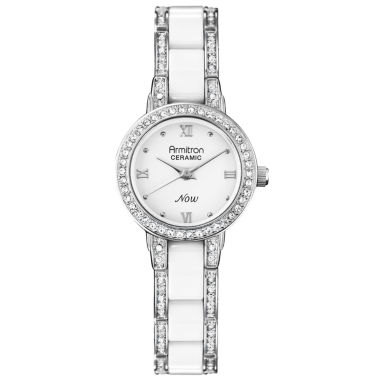 jcpenney.com | Armitron® Womens White Ceramic Crystal Watch
