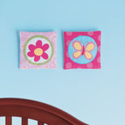 Okie Dokie® Butterfly Circles 2-pc. Wall Art