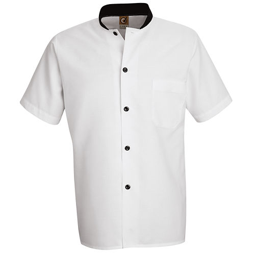 Chef Designs® Black-Trimmed Cook Shirt–Big & Tall
