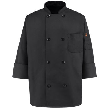 jcpenney.com | Chef Designs® Black Chef Coat–Big & Tall