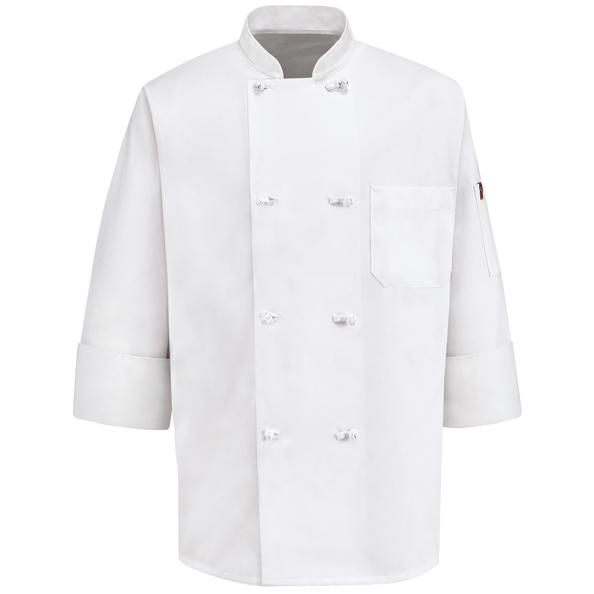 Chef Designs 8-Knot Button Chef Coat plus size,  plus size fashion plus size appare