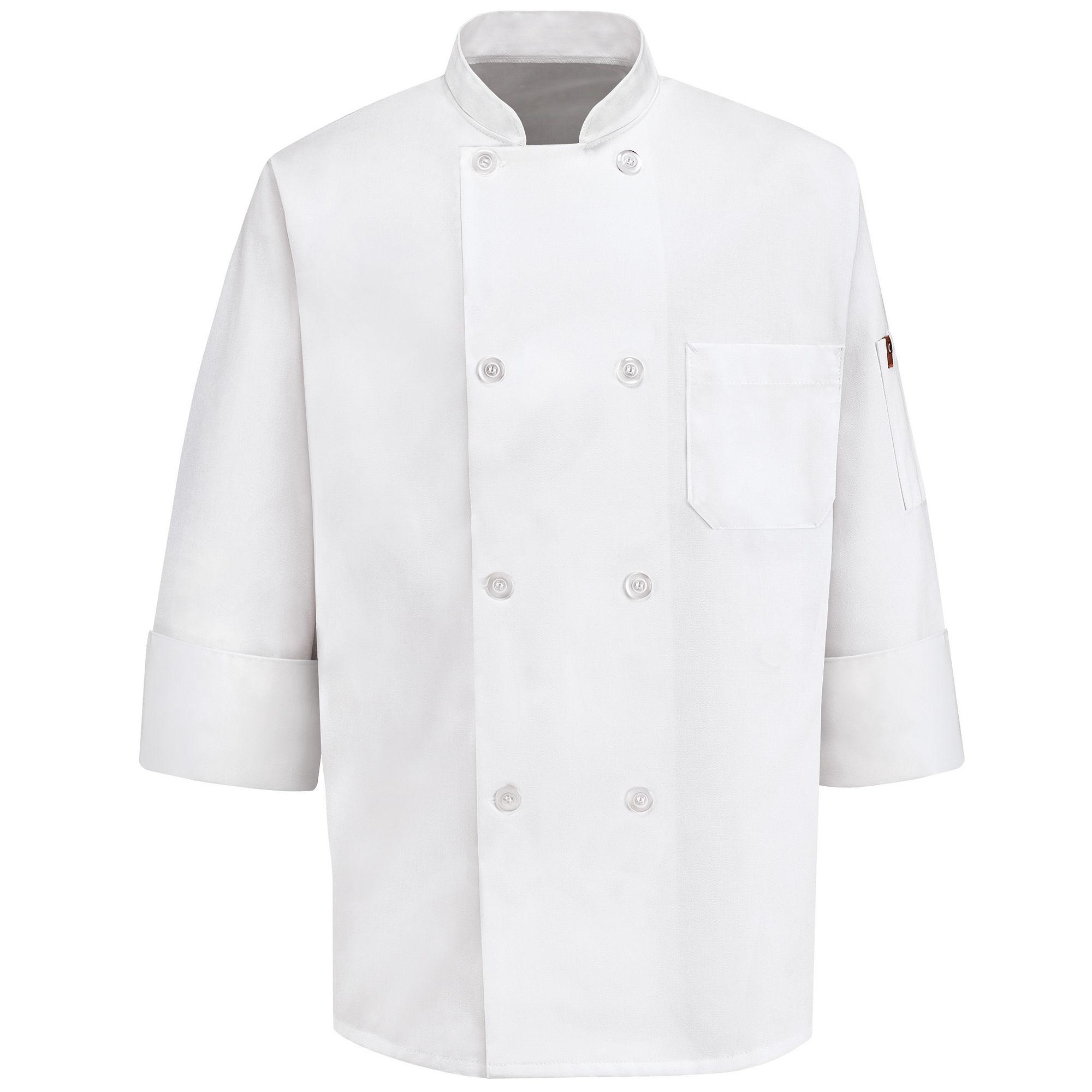 Chef Designs 8-Button Chef Coat plus size,  plus size fashion plus size appare