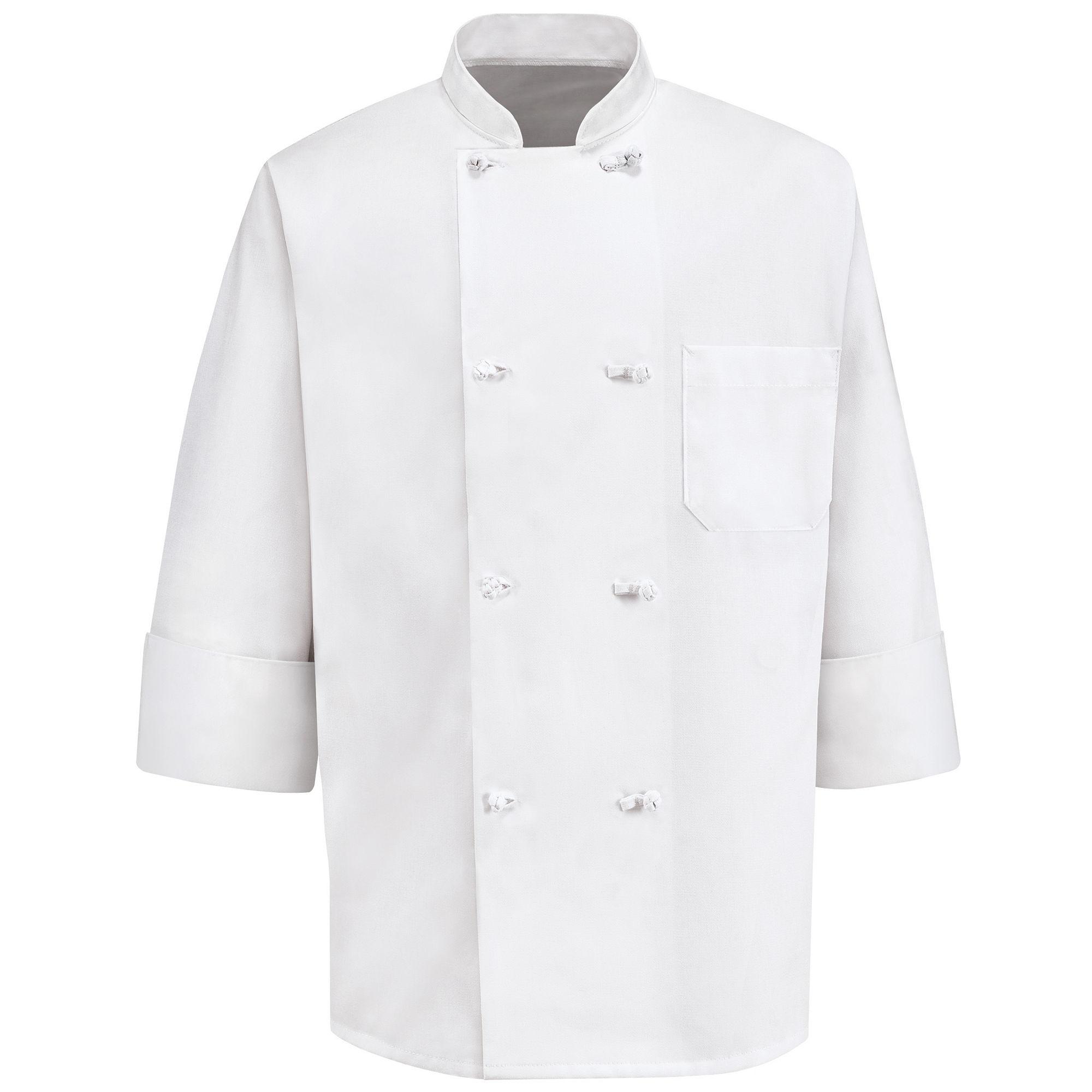 Chef Designs 8-Knot Button Chef Coat-Big & Tall plus size,  plus size fashion plus size appare