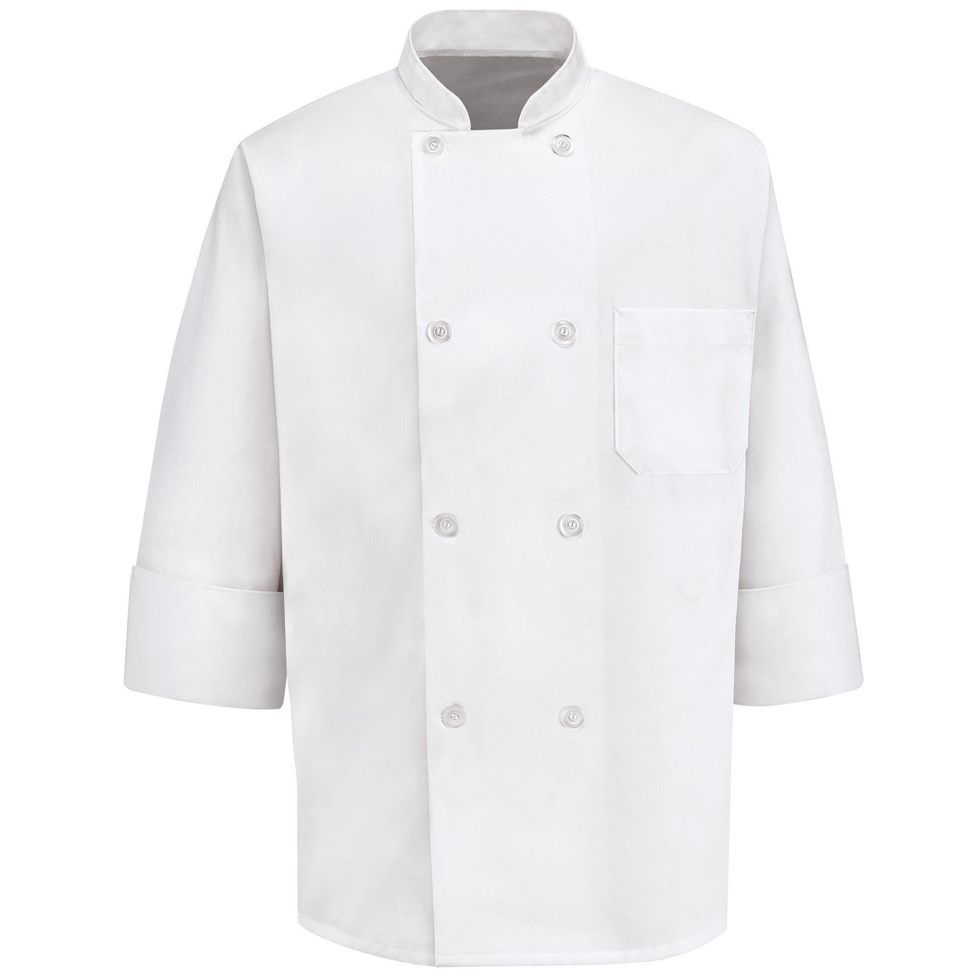Chef Designs 8-Pearl Button Chef Coat-Big & Tall plus size,  plus size fashion plus size appare