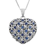 Genuine Sapphire Heart Pendant