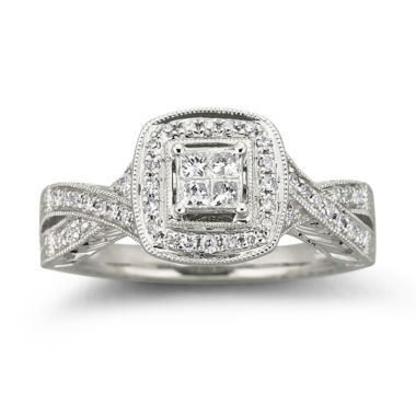 jcpenney.com | Cherished Hearts™ 1/3 CT. T.W. Certified Diamond Bridal Ring