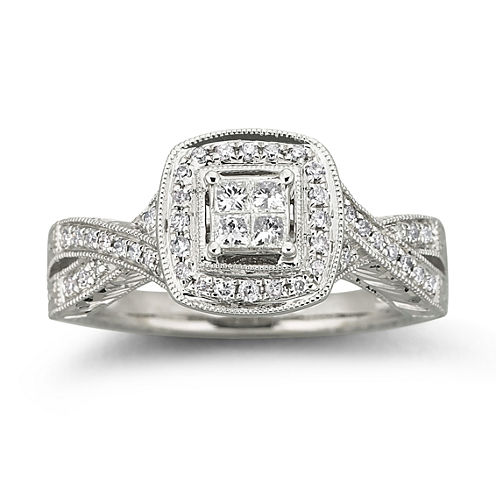 Cherished Hearts™ 1/3 CT. T.W. Certified Diamond Bridal Ring