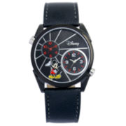 Disney Mickey Black Dual Time Watch