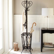 Traditional Coat Rack Stand with Storage