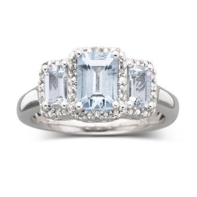 Genuine Aquamarine Diamond Accent Ring JCPenney