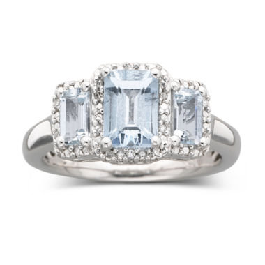 jcpenney.com | Genuine Aquamarine & Diamond Accent Ring