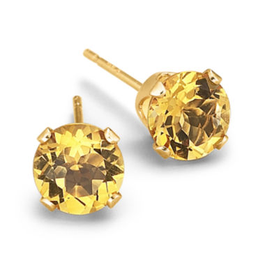 jcpenney.com | Genuine Citrine Round Stud Earrings