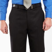 Stafford® Black Stripe Dress Pants - Portly