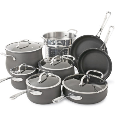 Cuisinart contour 13 pc hard anodized cookware set - How to clean hard anodized cookware exterior ...