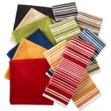 cooks Antimicrobial Kitchen Towels - Set of 4