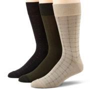 Dockers® 3-pk. Acrylic Dress Socks-Big & Tall