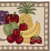 Nourison® Fruit Utility Wedge Rug