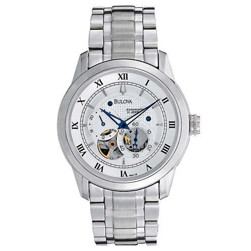 Bulova® Mens Automatic Skeleton Dial Watch 96A118
