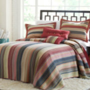 Jewel Retro Chic Striped Bedspread