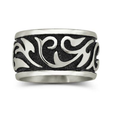 jcpenney.com | Men's Swirl Band Stainless Steel