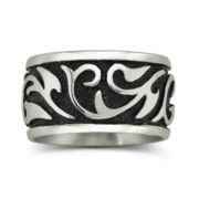 Men's Swirl Band Stainless Steel