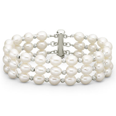 jcpenney.com | Freshwater Pearl 3 Row Bracelet