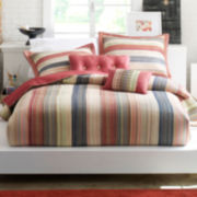 Jewel Retro Chic Cotton Striped Quilt