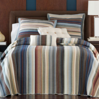 jcpenney.com | Neutral Retro Chic Cotton Striped Bedspread & Accessories