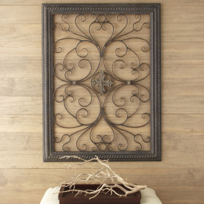 Metal Medallion Wall Art iron medallion scroll wall art - jcpenney