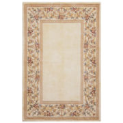 Floral Border Wool Rectangular Rugs
