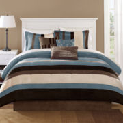 Blue Boulder Stripe 7-pc. Comforter Set