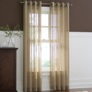 Linden Street™ Flax Grommet-Top Semi-Sheer Panel