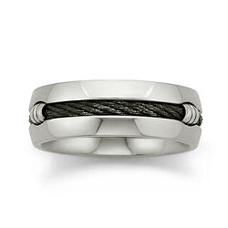 BEST VALUE! Mens 8mm Titanium Wedding Band