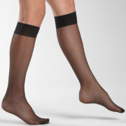 Sheer Caress®Knee Highs, Sheer Reinforced Toe-6 Pk
