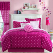 jcp home™ Dot2Dot Raspberry Comforter Set & Accessories