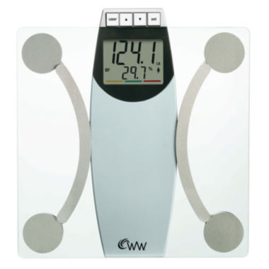 "jcpenney.com | Weight Watchers® 2"" LCD Glass Body Analysis Scale"