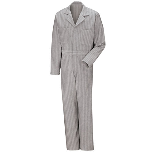 Red Kap Button-Front Cotton Herringbone Coverall
