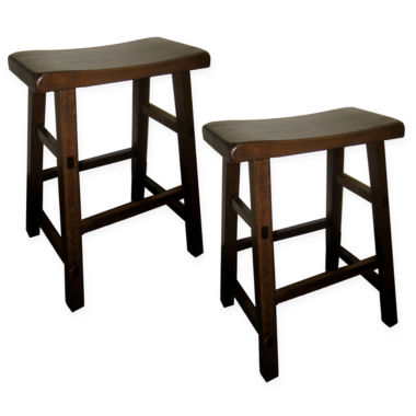 jcpenney.com | Calvin Set of 2 Distressed Saddle Stools