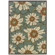 Montego Blossoms Indoor/Outdoor Rectangular Rug