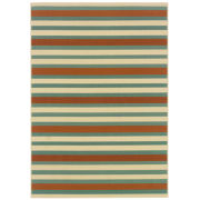 Oriental Weavers™ Montego Stripe Indoor/Outdoor Round Rug