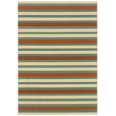 Covington Home Montego Stripe Indoor/Outdoor Rectangular Rug