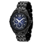 Armitron® Men's Stainless Steel Black Multi-Function Watch